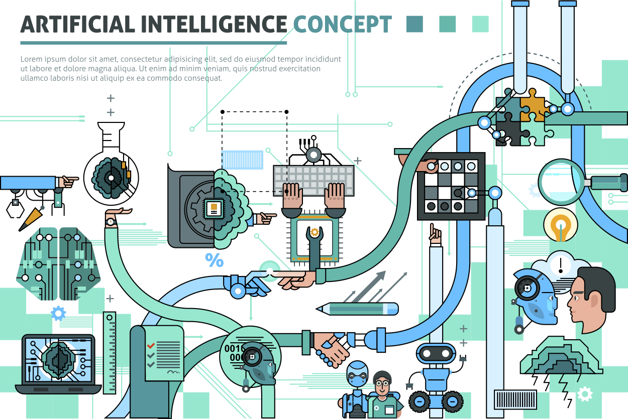 A conceptual view of Artificial Intelligence